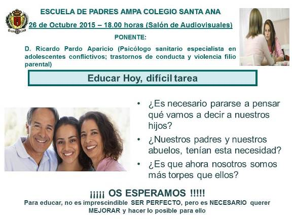 Escuela de Padres 26_10_2015
